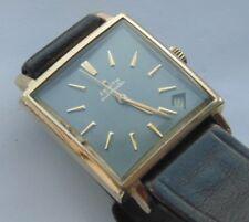 1970 s Zenith militaire Square gros caractères Date Automatique G/Plaqué Mans Watch vgwo