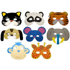 10 x Children's Foam Animal Masks Dressing up Party Bag fillers Jungle Party