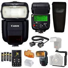 Canon Speedlite 430EX III-RT Flash + Speedlite Case + Flash L Bracket + TTL Cord