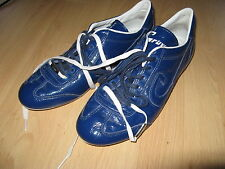 NEARLY NEW BLUE CRUYFF VANENBURG RECOPA LEATHER TRAINERS SNEAKERS 9 UK 43 EU