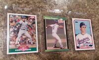 (3) Kenny Rogers Rookie Card Lot 1989 Score Donruss Topps Traded RC Rangers