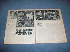 "1971 Ford Flathead Engine Vintage Article ""Four-Banger Forever"" Earl Ebersole"