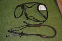 Whitaker Rope Draw Reins with Brass Fixtures Black// Havana One Size