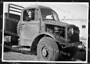 1946 Malta - Hal-Far - a Navy 3 ton Truck on Christmas Day - photo 8 by 5.5cm