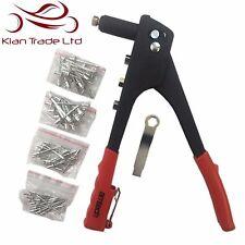 Arma de remache + 60 Remaches Mano Remachadora Pop Remache Roscado Boquillas Kit de herramienta de mano para armar uno mismo de seguridad