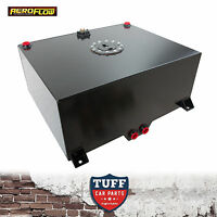 Aeroflow 20 Gallon Black Baffled Fuel Cell with Sump & Sender AF85-2200ASBLK New