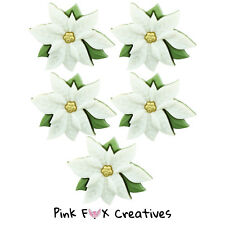 IVORY POINSETTIA DRESS IT UP NOVELTY CRAFT BUTTONS CHRISTMAS FLOWER SEW HOBBY