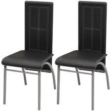 idaXL 2/4/6x Sillas de Salón Comedor de Cuero Artifical Negro/Blanco/Marrón