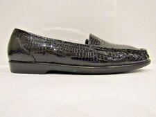 SAS Size 12 Womens Shoes Black Croc Print Tripad Comfort Mocs Loafers Diabetic