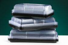More details for mixed platters  5 large & 5 medium & 5 small catering trays (recyclable plastic)