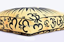 """Om Mandala Floor Pillow Indien Cotton Cushion Square Daybed Seating Ottoman 35"""""""