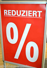 10 Stück Plakat Din A1 Reduziert % Prozent Kundenstopper Sale Werbe Poster