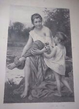 "FRANCOIS-ALFRED DELOBBE : PHOTOGRAVURE GOUPIL/ PRINT: ""AFTER THE BATH"""