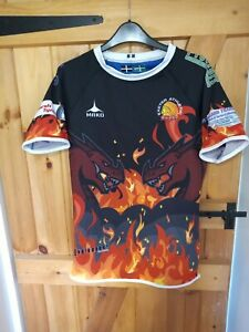EXETER YOUTH HEAVEN&HELL RUGBY UNION SHIRT BY MAKO SIZE XL BOYS- NEW