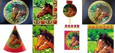 I Love Horses Party Supply Set-4-H or Birthday-Plates-Tablecover-Napkins-Hats-In