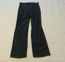 Emporio Armani Men W33 Unaltered Inseam 37 100% Wool Front Seam Dress Pants