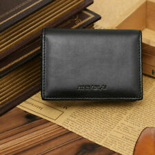 Small RFID Real Leather Wallet Men Credit Card Holder Case Coin Purse Black