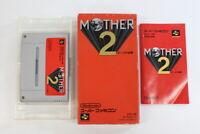 Mother 2 / Earthbound Boxed SFC Nintendo Super Famicom SNES Japan Import I5531