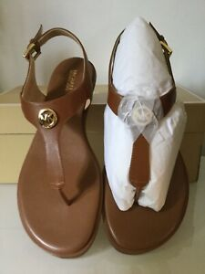 Michael Kors Womens Charm Thong Sandals Leather Size 8.5