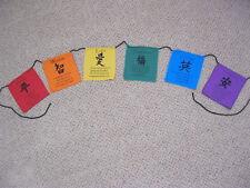 BALI COLOURFUL RAINBOW  AFFIRMATION FLAGS, SMALL, PEACE, LOVE,GOOD LUCK, BINTANG
