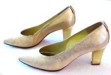 Elegante goldene Pumps. Gr. 37,5 Abendschuhe LINEA WALLYS, Vero Cuoic 49cf0c50d3