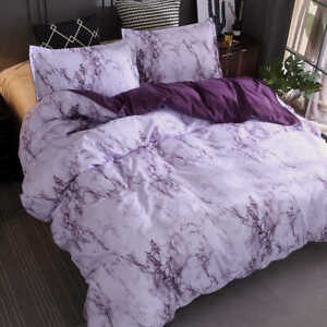 3 Piece Bedding Set Pillowcase Quilt Cover Soft Double/Full/Queen/King Size Grey