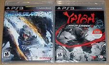 PS3 Game Lot - Metal Gear Rising Revengeance (New) Yaiba Ninja Gaiden Z (New)