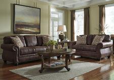 Ashley Breville Espresso Sofa and Loveseat Furniture 80003