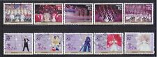 JAPAN 2014 100TH ANNIV. OF TAKARAZUKA REVUE COMP. SET OF 10 STAMPS IN FINE USED
