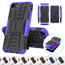 For iPhone SE 2020 Hybrid Armor Hard Rubber Bumper PC Protective Back Case Cover