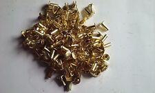 "50 ~ 14-6 Pure Brass Split Rivets ""Cymbal Sizzlers"" 9/64 Diameter x 3/8"" Long"