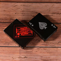 Waterproof Black Plastic Playing Cards Collection Poker Cards Board Game SE L xd