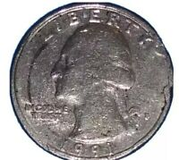"""1991 P Mint error, Washington Quarter !""""RARE OF THE RARE"""" ONE LEGGED EAGLE!"""