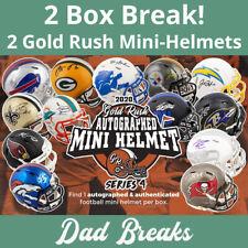 MINNESOTA VIKINGS 2020 Gold Rush Signed/Autographed Mini Helmet 2 BOX LIVE BREAK