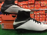 New In Box Nike Hypervenom Phantom II Lthr FG White / Black Soccer Cleats 8.5