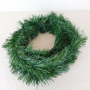 Long Needle Pine Garland Green Artificial Approx. 14 Feet Speckled White Snow