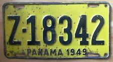Panama 1949 License Plate NICE QUALITY # Z-18342