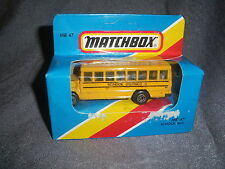 276B Vintage Matchbox 1981 MB 47 Bus School Bus School District 2 US 1:76