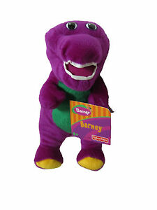 """** L@@K ** Barney Plush 7.5"""" BRAND NEW with TAGS !!"""