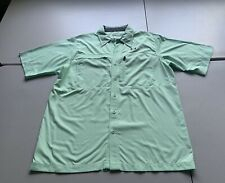Under Armour Teal Green Fish Fishing Hunter Solid SS Loose Shirt Size Large