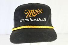 Miller Genuine Draft Black/gold Baseball Cap Adjustable Strap