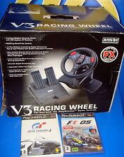 volant de direction et 2 jeux V3 RACING ROUE pour playstation bon État