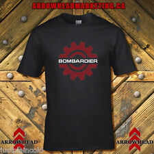 Bombardier vintage snowmobile style t-shirt