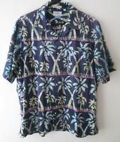 "Vintage Auth Sero USA Abstract Palm Trees Hawaiian Shirt 48""-122cm L (1004H)"