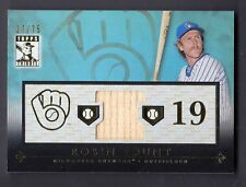 Robin Yount 2010 Topps Tribute Blue Relics Game Used Bat Card 27/75