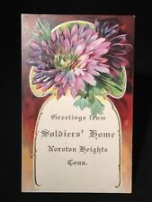 Antique POSTCARD c1905-10, Noroton Heights, CT., Soldiers Home Greetings