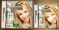 Hannah Montana CASE & MANUAL ONLY (Nintendo DS, 2006)