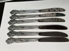 6 - VERSAILLES Stainless Solid Knife. MSI Japan Floral Flowers -  Circa 1965
