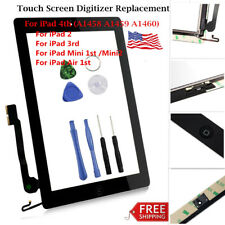 Lot Touch Screen Glass Digitizer Replacement For Apple iPad 2 3 4 Air 1 Mini 1 2