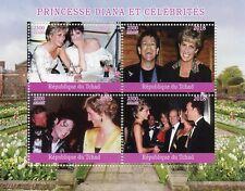 Chad 2018 MNH Princess Diana Michael Jackson Elton John Tom Hanks 4v M/S Stamps